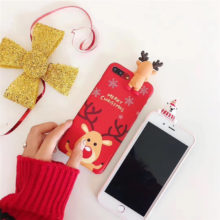 Happy New Year 2018 Cute 3D Case iPhone 7 7Plus iPhone8 X
