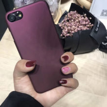 Wine Red Phone Case iPhone  6 6S 7 7 Plus 5 5S SE