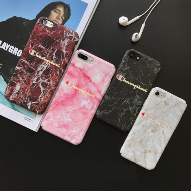 Champion Marble Phone Case iPhone 6 S plus 7 7 plus 8 8 plus X