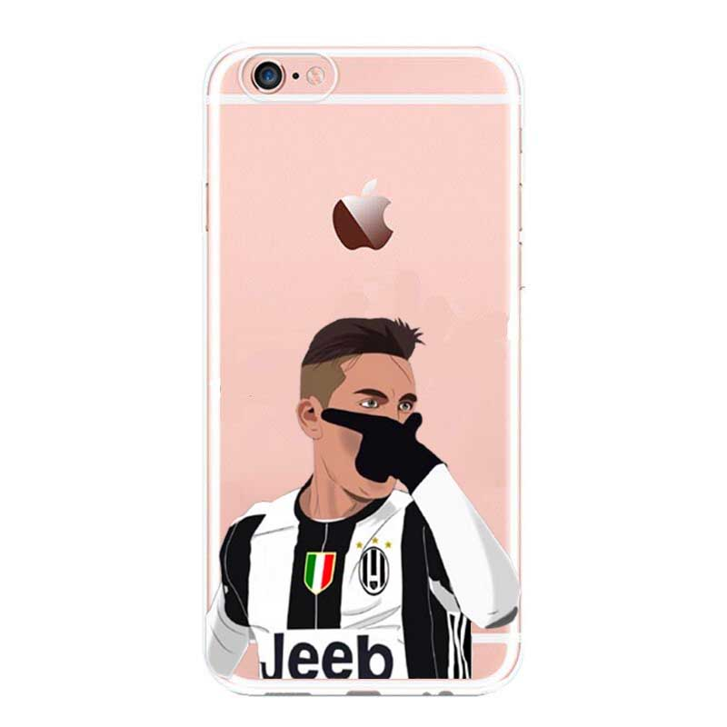 b9d56ff959a Football star cristiano ronaldo Lionel messi Paulo Dybala phone case for  iPhone 5 5C SE 6 6plus 7 soft silicone Cover