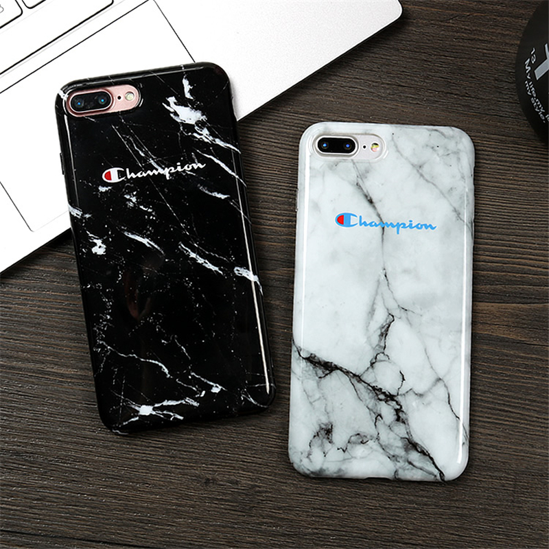 c9644bea5a9089 Champion Brand Marble Camouflage Soft IMD Phone Case For iPhone 7 case  Japan fashion cover Fundas coque For iphone 6 6s 7 8 Plus