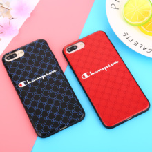 Champion Pattern Phone Case iPhone 6 6S 7 8 Plus X XR XS Max