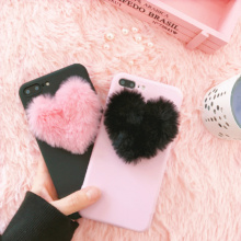3D Love Plush Phone Case iPhone 5 5s 6 6s 7 8 plus 10 X