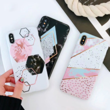 Candy Color Marble Phone Case iPhone 6S 6 7 8 Plus X