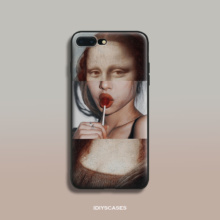 Funny Mona Lisa Phone Case iPhone 5 5S 6 6s Plus 7 7 Plus 8 8Plus X