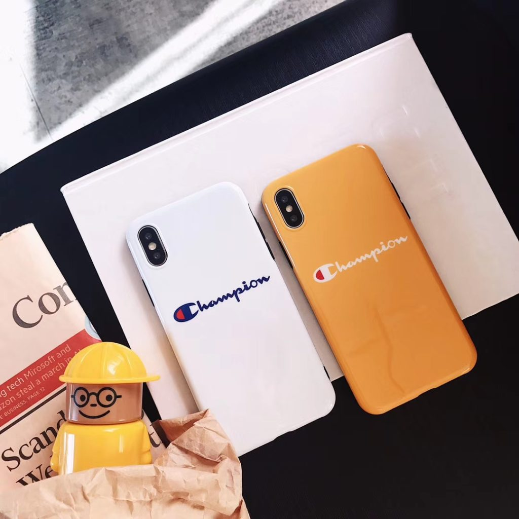 White Champion iPhone Cases