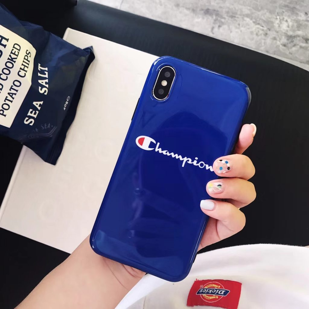 Blue Champion iPhone Case